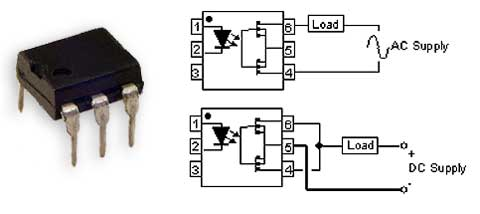 Using a dual MOSFET Solid State Relay for switching A.C. or D.C.