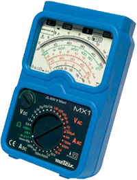 Metrix analogue meter with a diode range