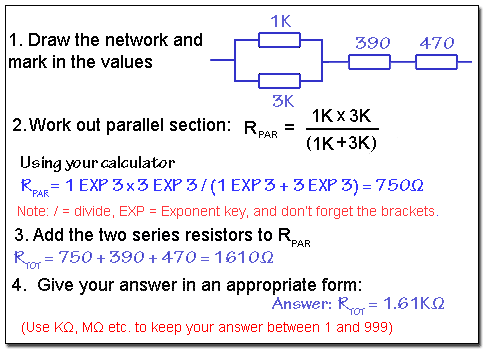Working out resistance in a series/parallel circuit