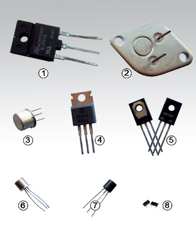 Typical Bipolar Junction Transistors